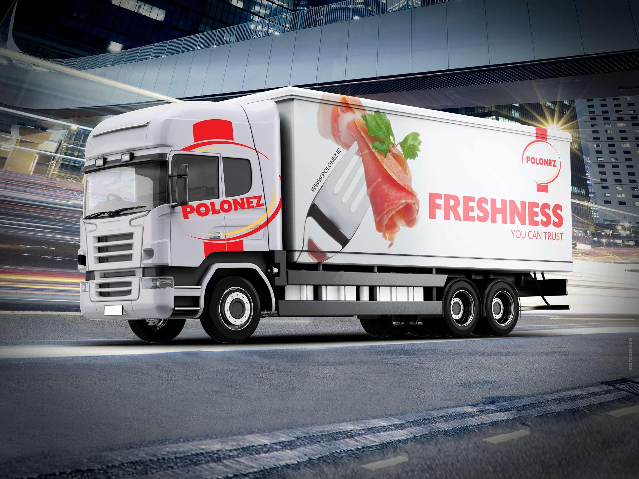 Polonez | truck design | Grey Dash advertising agency | Ireland