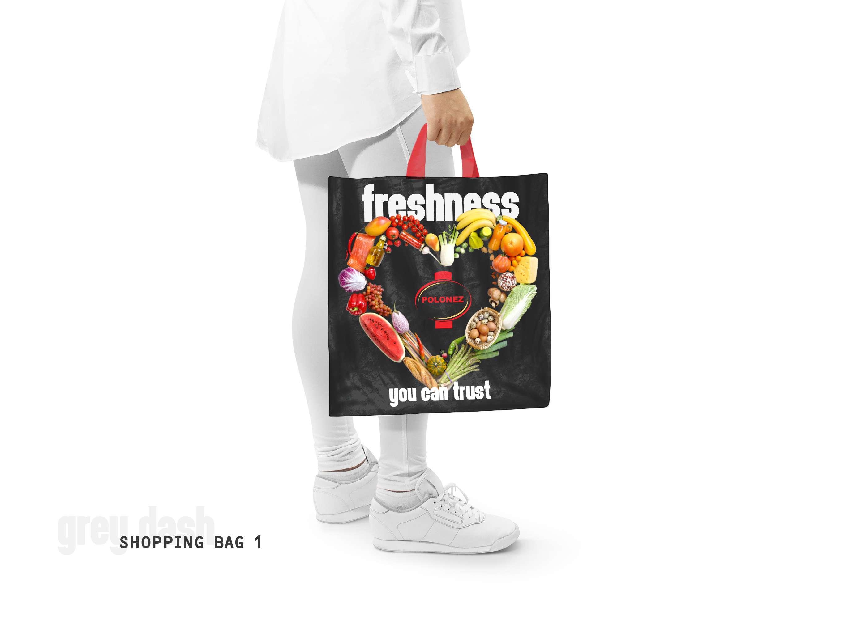 Polonez | shopping bag design Polonez | Grey Dash advertising agency | Ireland