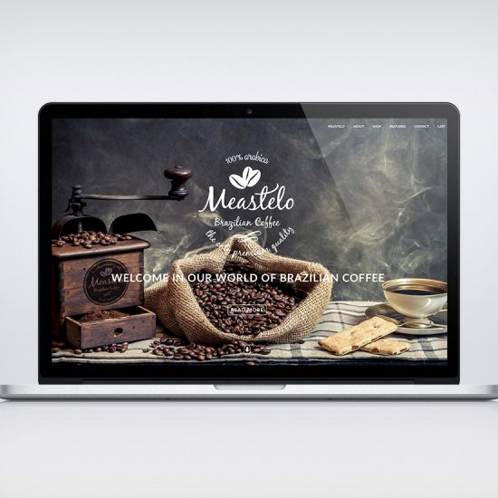 Meastelo Coffee Website design
