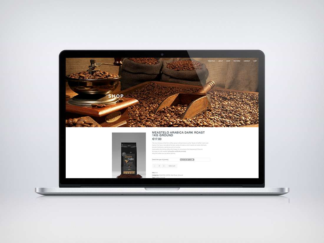 Meastelo Coffee Webdesign | Grey Dash