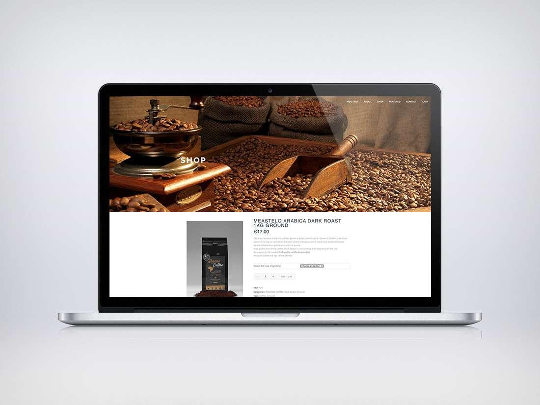 Meastelo Coffee Webdesign | Grey Dash