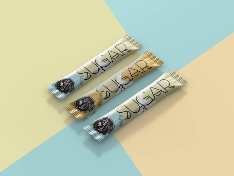 Sugar sachet bag packaging design